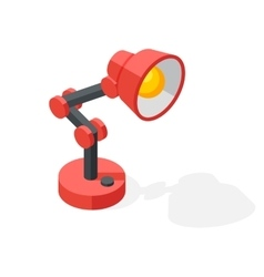 Cartoon lamp vector image