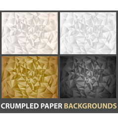 crumbled paper vector image