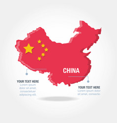 Culture china map icons vector
