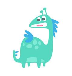 Cute colorful funny dinosaur prehistoric animal vector