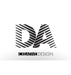 Da d a lines letter design with creative elegant vector