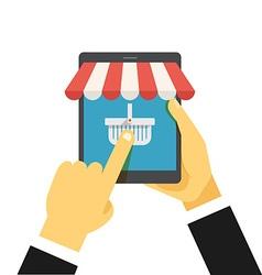 Digital commerce vector image