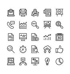 Digital Marketing Icons 5 vector