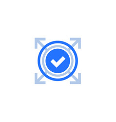 Expand icon with check mark vector