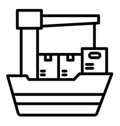 Export ship icon outline style vector