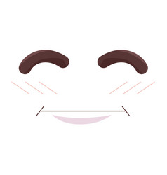 face emoticon kawaii style vector image