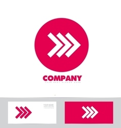 Forward arrow concept pink logo icon vector image