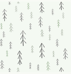 fur-tree seamless pattern vector image