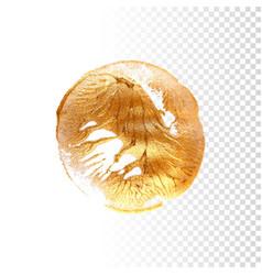 gold hand drawn paint brush stroke vector image