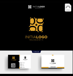 Gold luxury initial b logo template and business vector