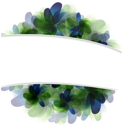 Green and blue flowers vector image