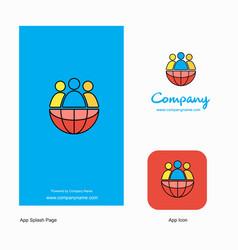 group avatar company logo app icon and splash vector image