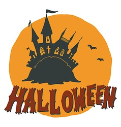 Halloween with a fairytale ghost castle vector