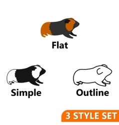 Hamster icons set vector image
