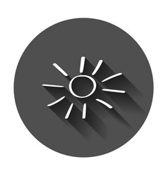 hand drawn sun icon sun sketch doodle with long vector image