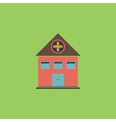 Hospital flat icon vector image