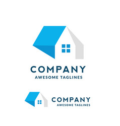 house and roofing logo vector image