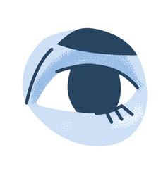 Human eye body part on white background vector