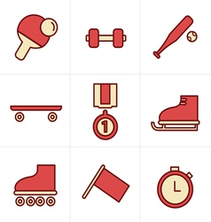 Icons Style Icons Style Set of monochromatic simpl vector image