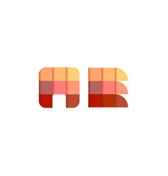 initial letters ae a e square pixel logo design vector image