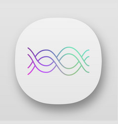 interlaced waves app icon uiux user interface vector image