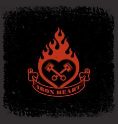 iron heart vector image