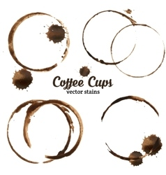 Isolated of coffee cup stains vector