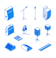 Isometric music equipment 2 vector