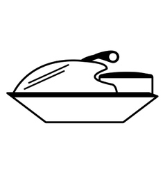 Jetski vehicle isolated icon vector