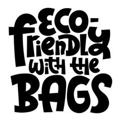 Keep bag lettering vector