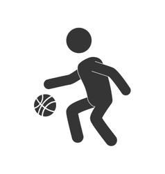 Man playing basketball vector
