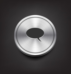 Metal Comment Icon vector