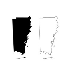 mobile county alabama counties in alabama united vector image