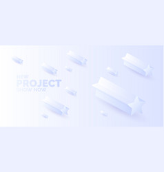 modern abstract background template with stars vector image