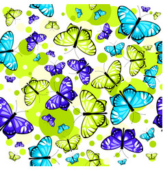 Pattern with butterflies 2 vector