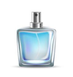 Perfumery glass bottle sprayer aroma smell vector