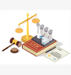 Pollution prevention law flat isometric vector