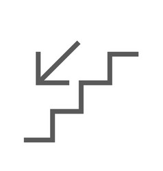 public navigation line icon stairs vector image