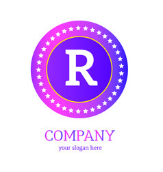 r letter logo design r icon colorful and modern vector image