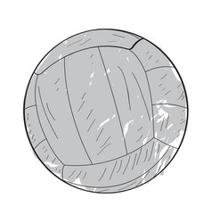 retro volleyball ball vector image