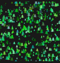 seamless abstract random pine tree pattern vector image