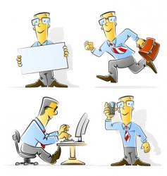 set cartoon businessman vector image