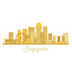 Singapore city skyline golden silhouette vector