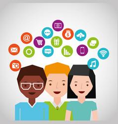 Social media network icons vector