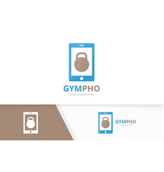 Sport and phone logo combination gym and vector