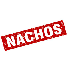 square grunge red nachos stamp vector image