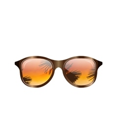 Sunglasses with Palms Reflection Isolated vector image