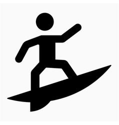Surfing icon vector