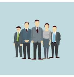 Teamwork concept group people flat vector