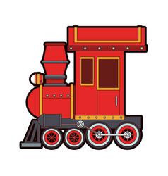 Train toy cartoon vector